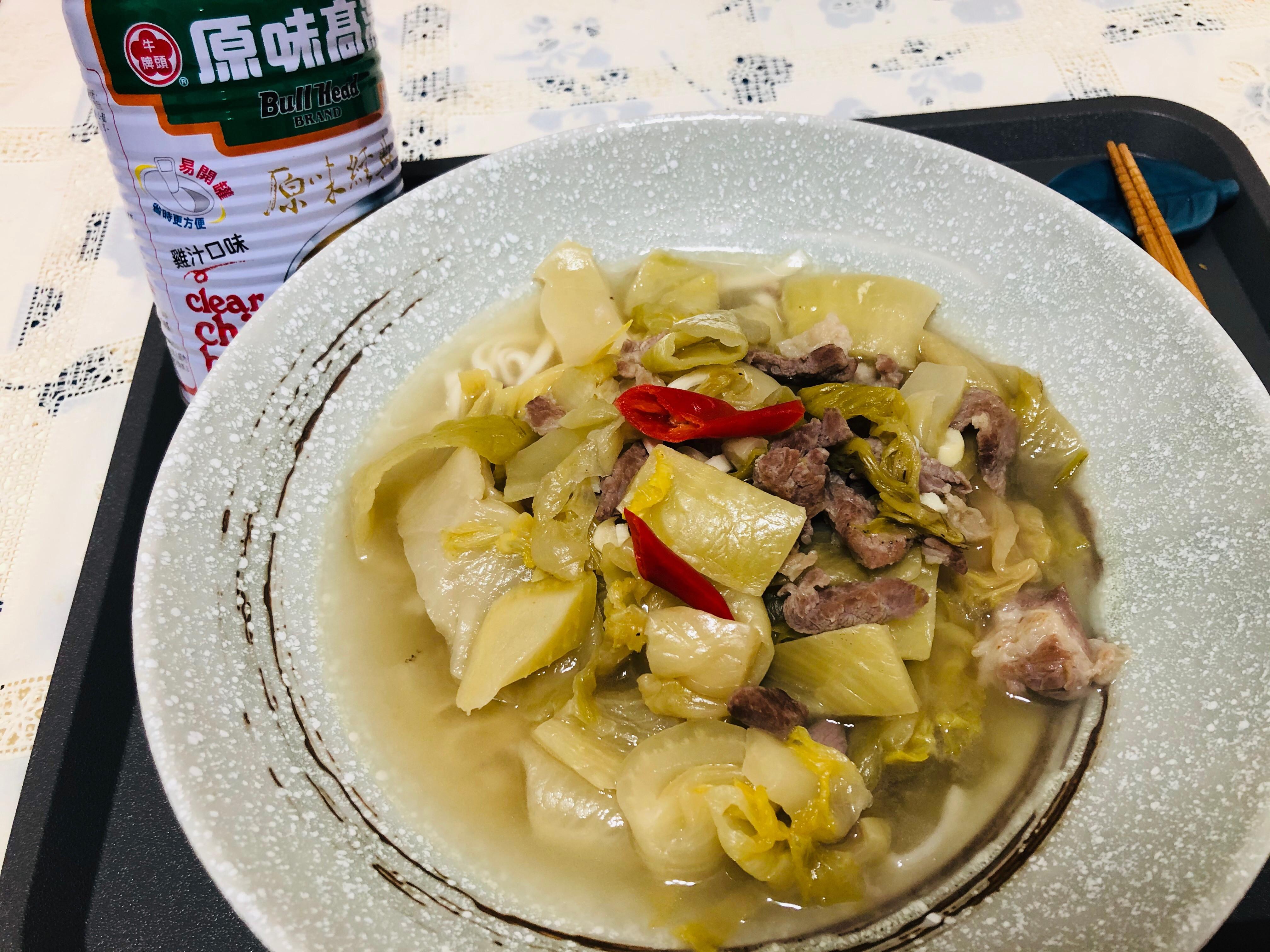酸菜麵/湯(牛頭牌原味高湯)