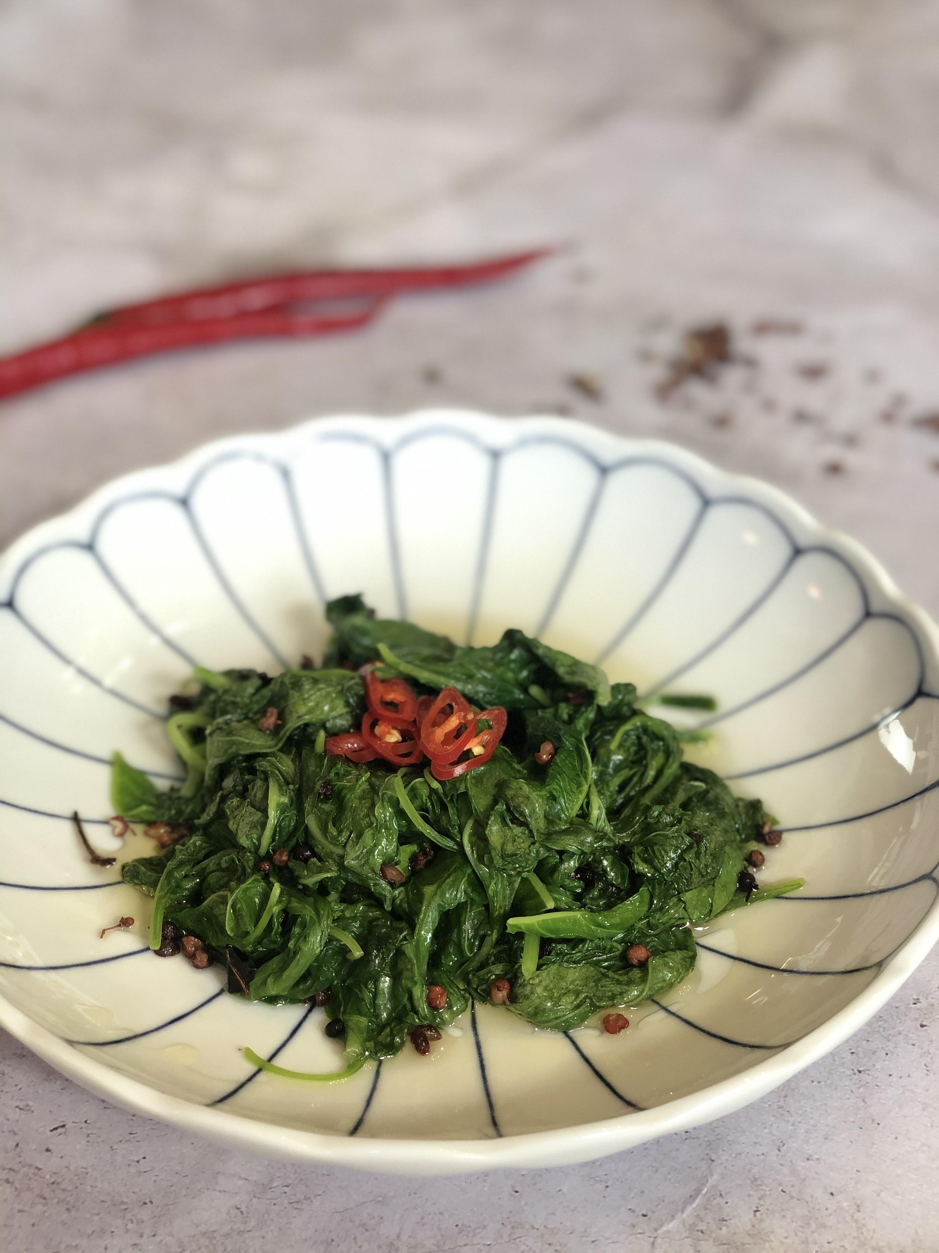 涼拌料理 <蔬菜> 香油花椒白莧菜