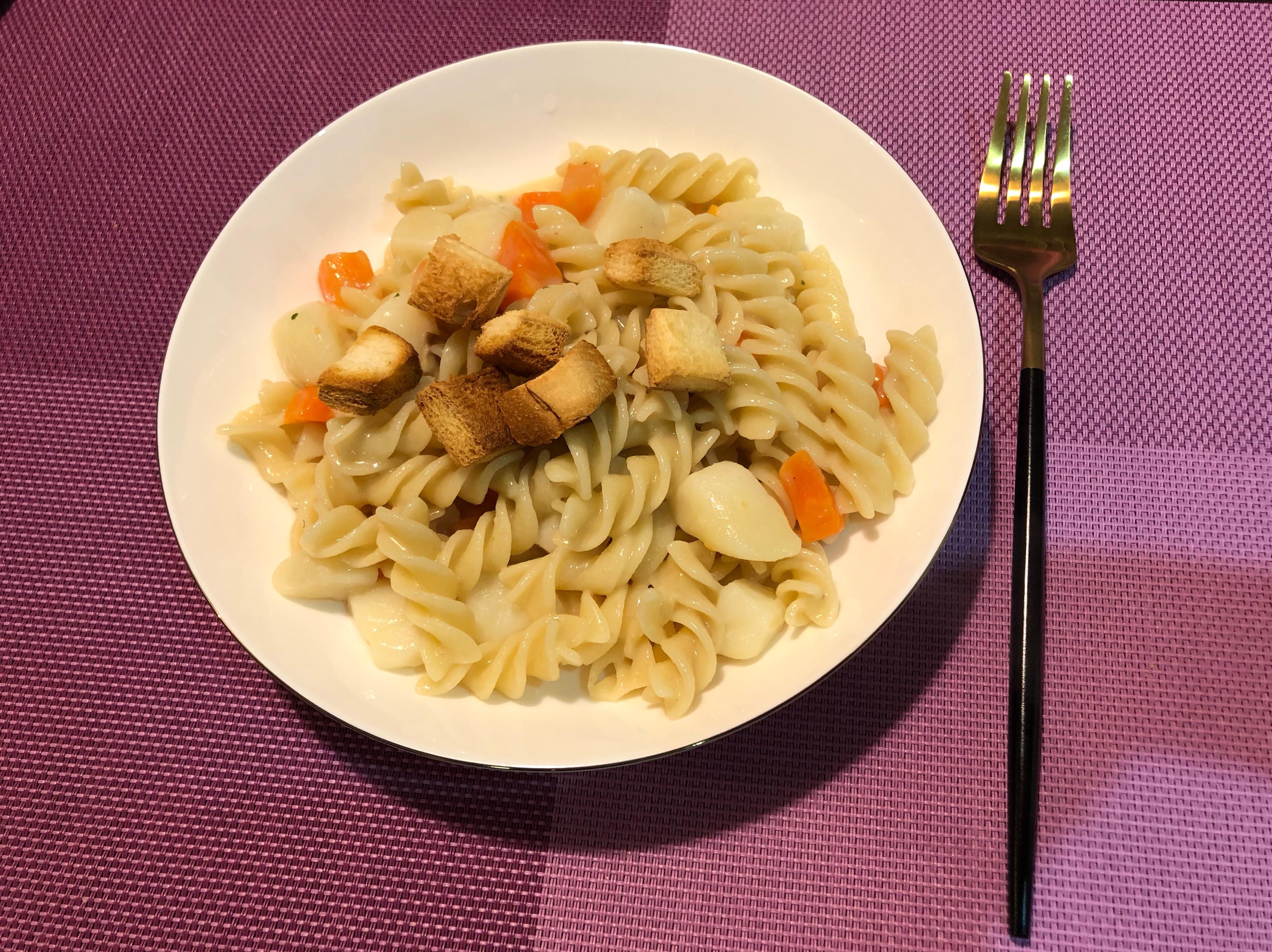 經典蕈菇螺旋義大利麵