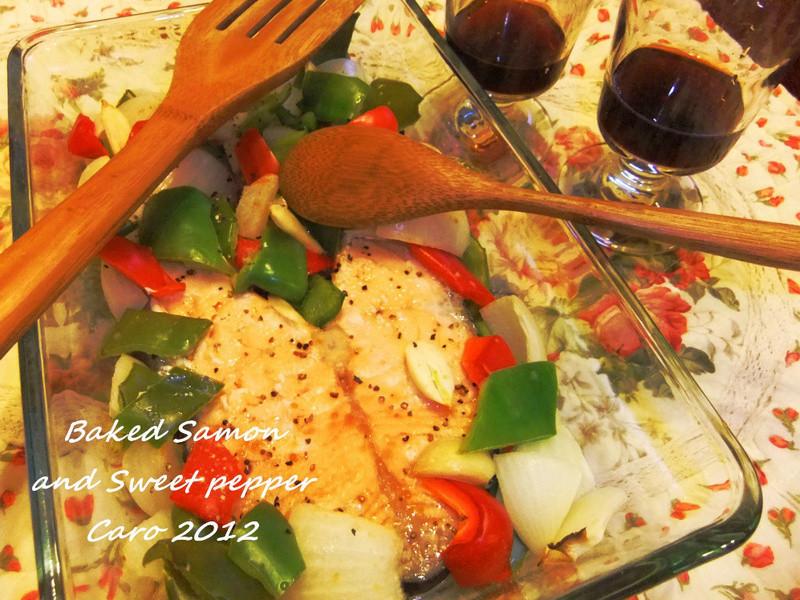 焗烤鮭魚蔬菜