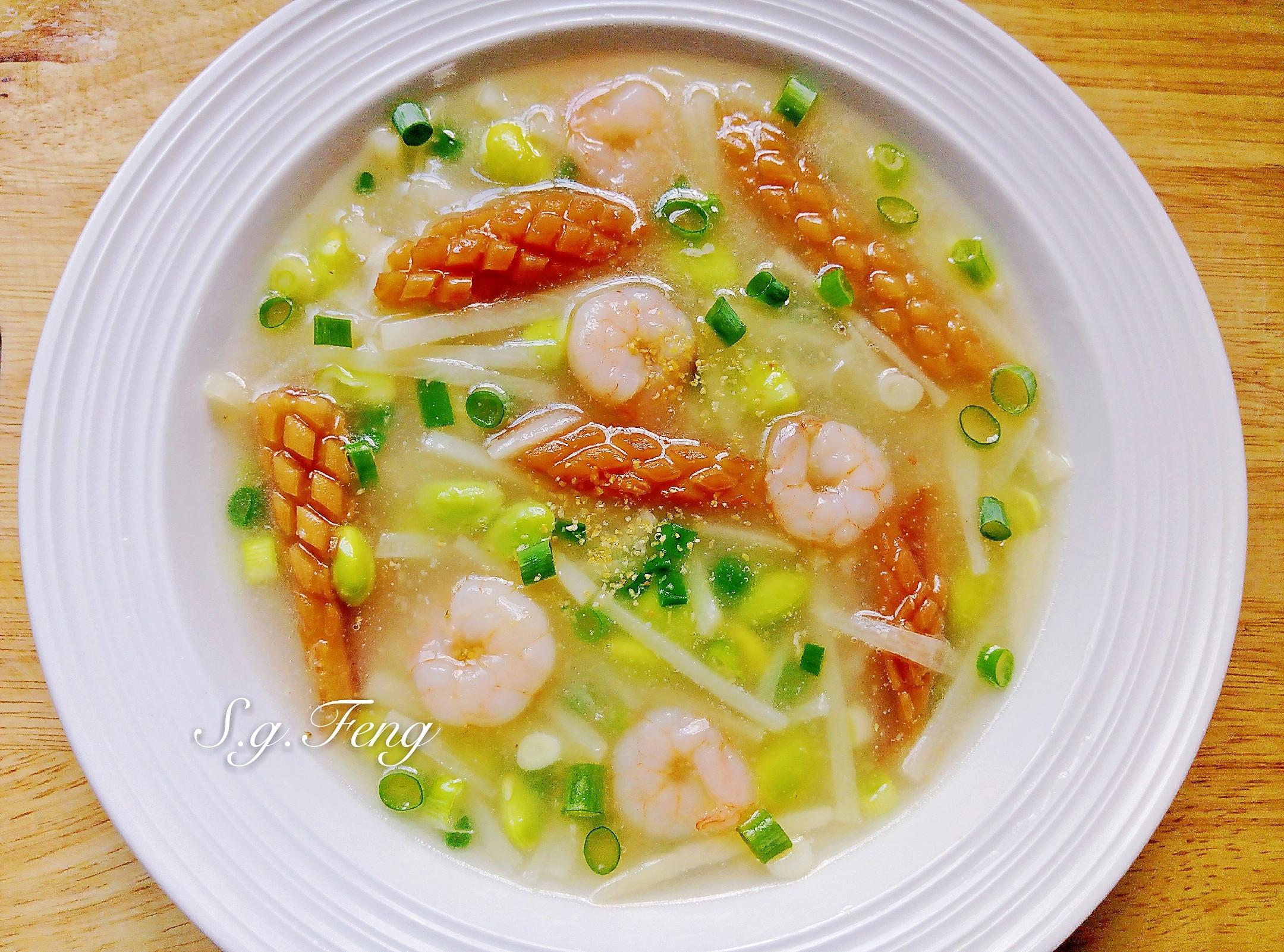 蒜味竹筍海鮮羹
