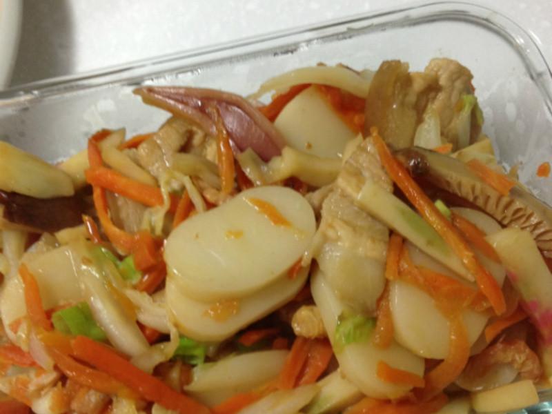 【便當料理】五行蔬菜炒上海年糕
