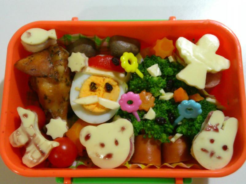 可愛動物聖誕餐盒