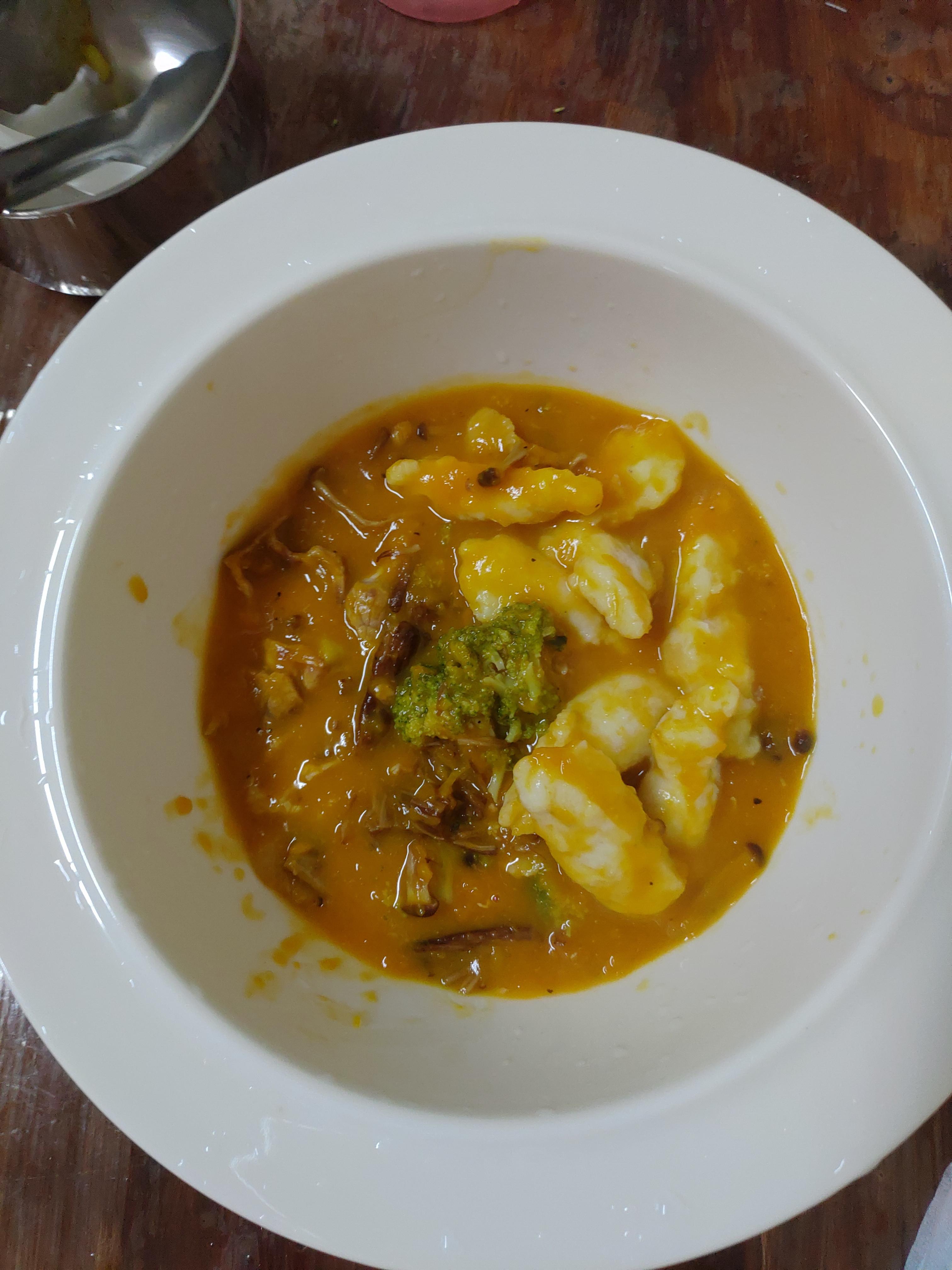 黃金肉片濃 湯