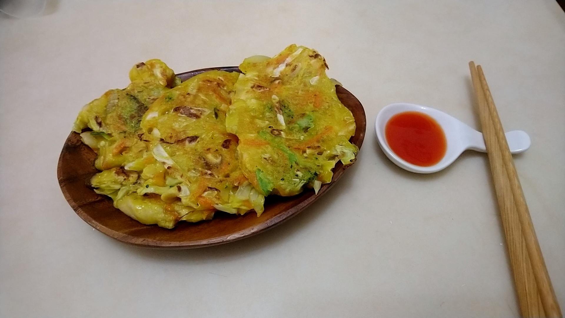 薑黃蔬菜雞肉煎餅