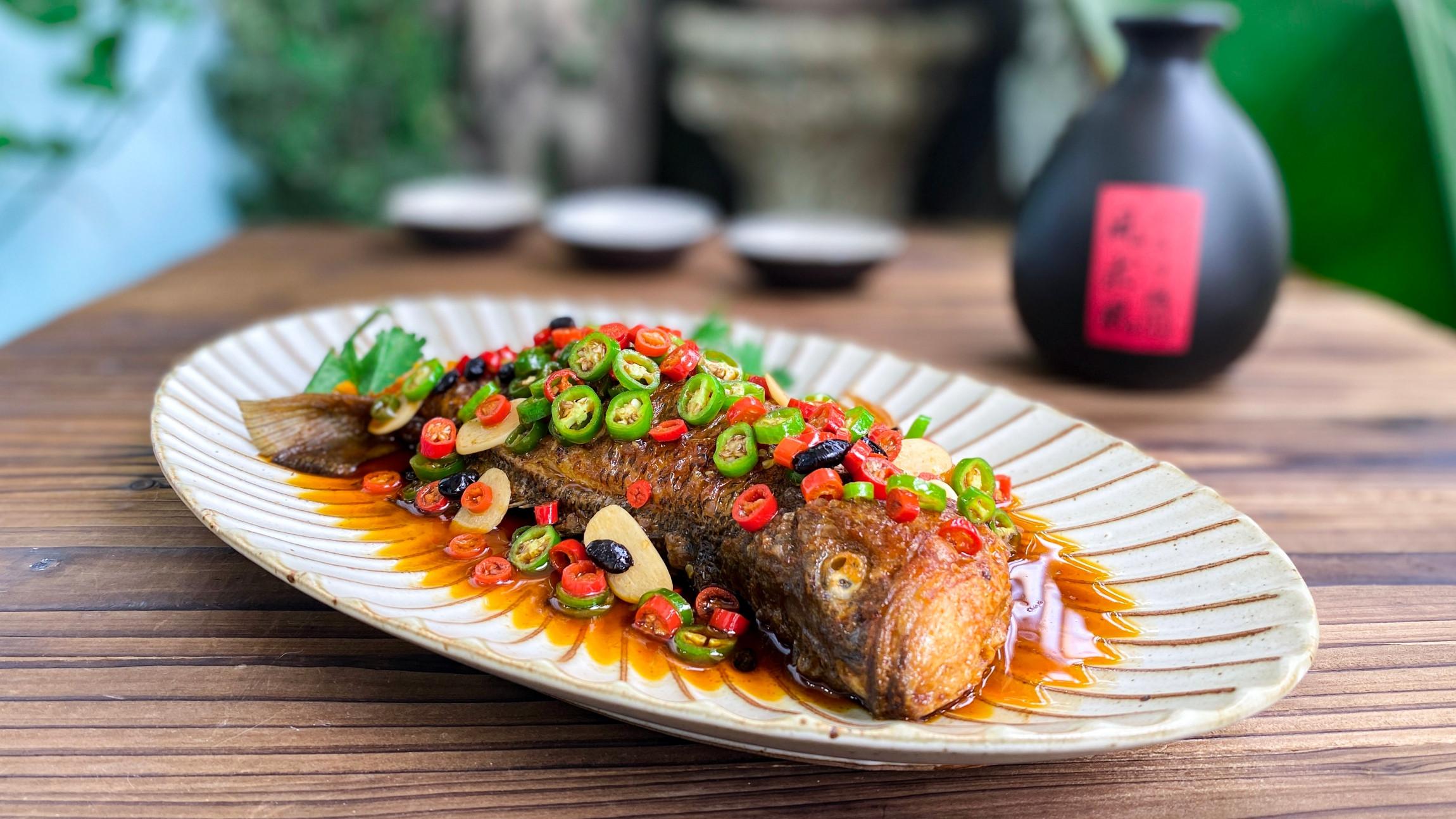 紅燒鱸魚(紅燒魚料理,聚會主菜)