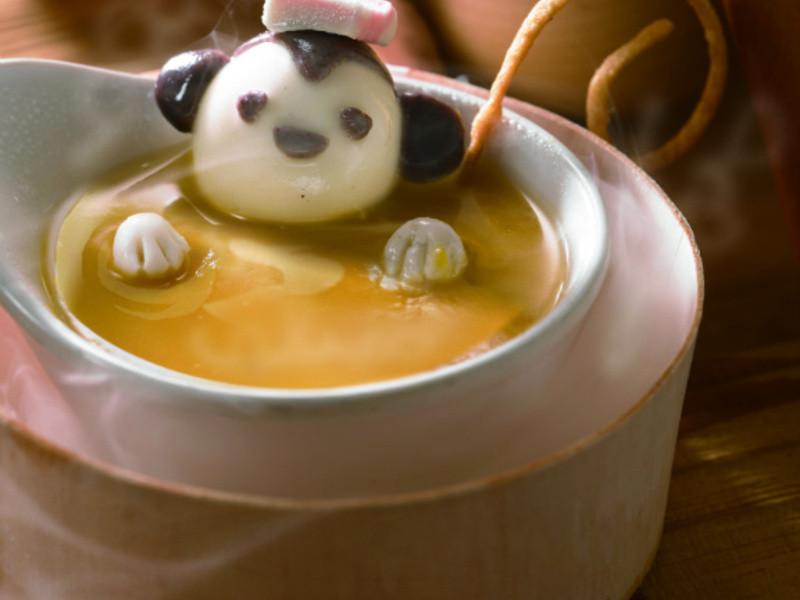泡湯小猴子(創意鹹湯圓)