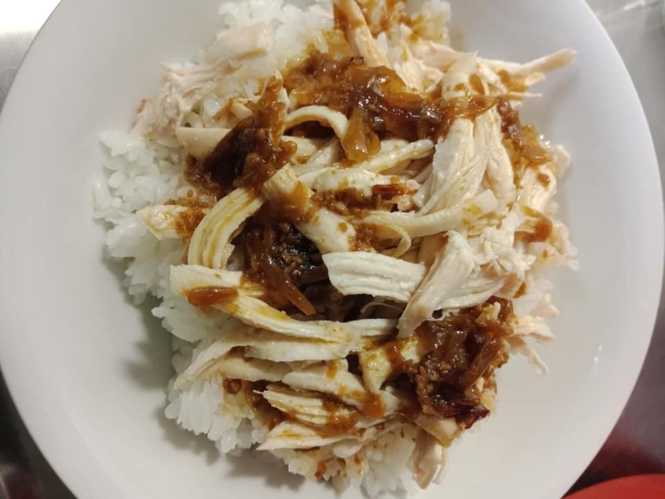 簡易版雞絲飯(電鍋料理)