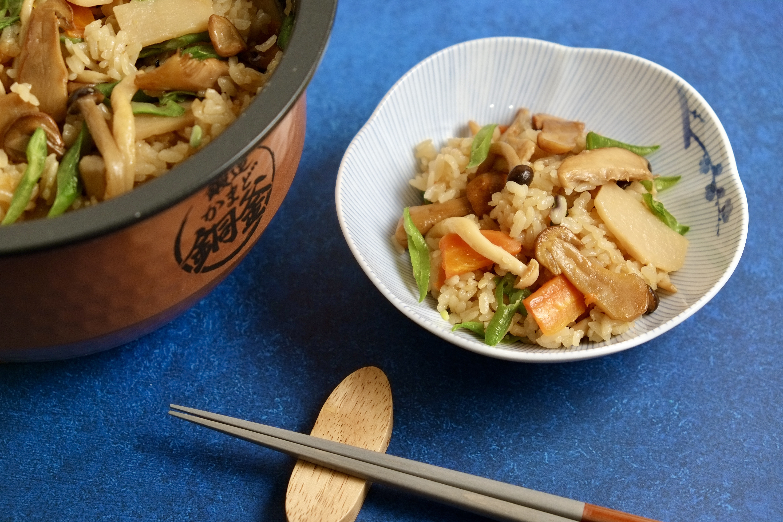 姬松茸野菇鮮筍炊飯