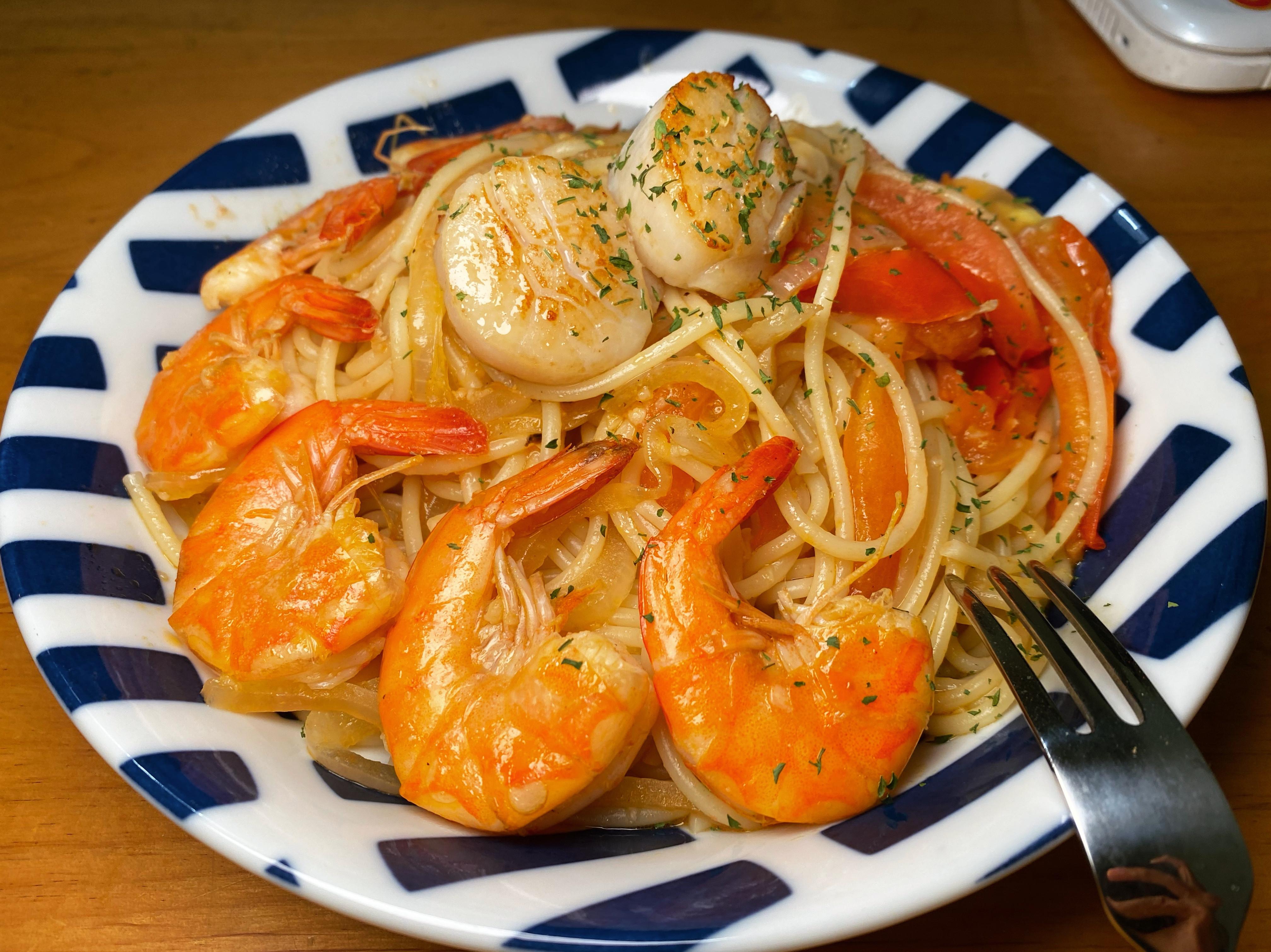 干貝鮮蝦義大利麵