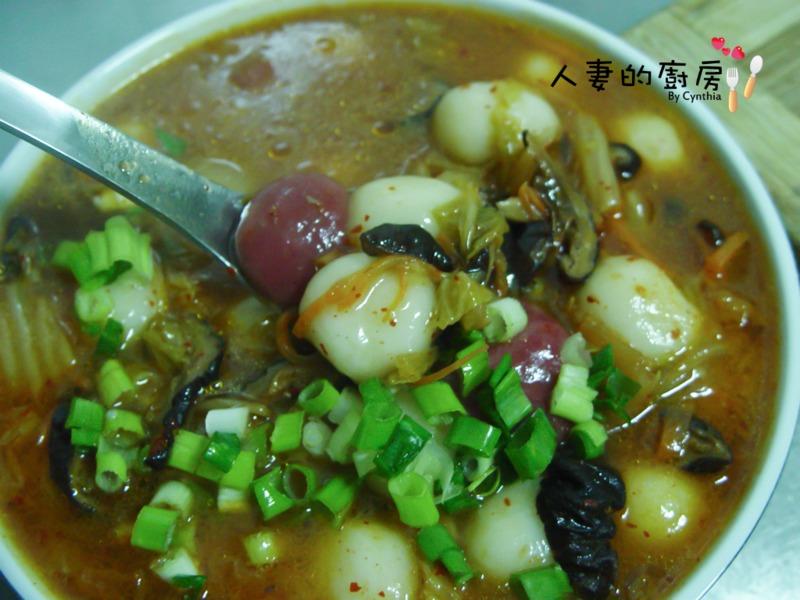 【剩食處理】泡菜湯湯圓