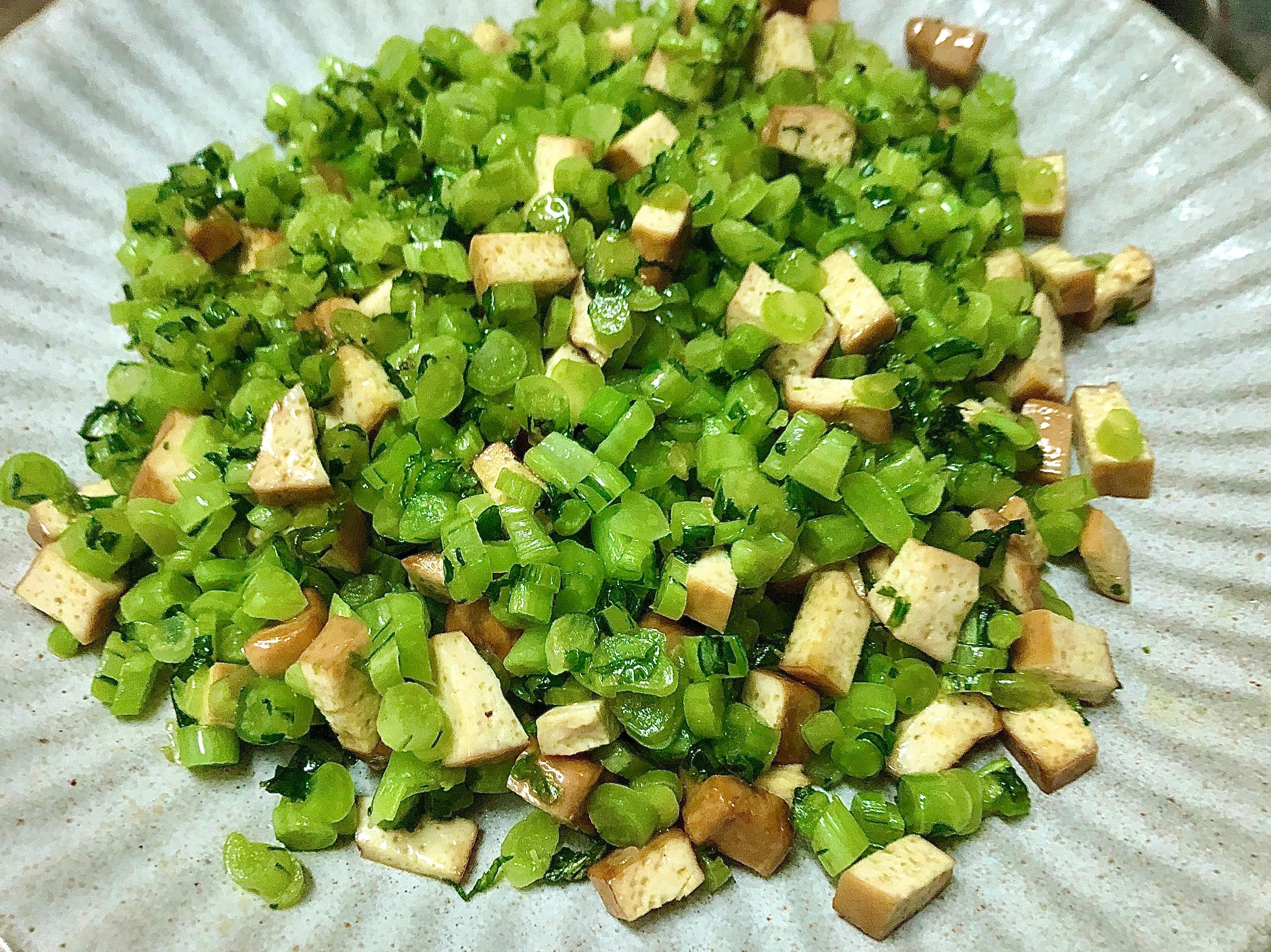 白蘿蔔葉梗炒豆乾|全素