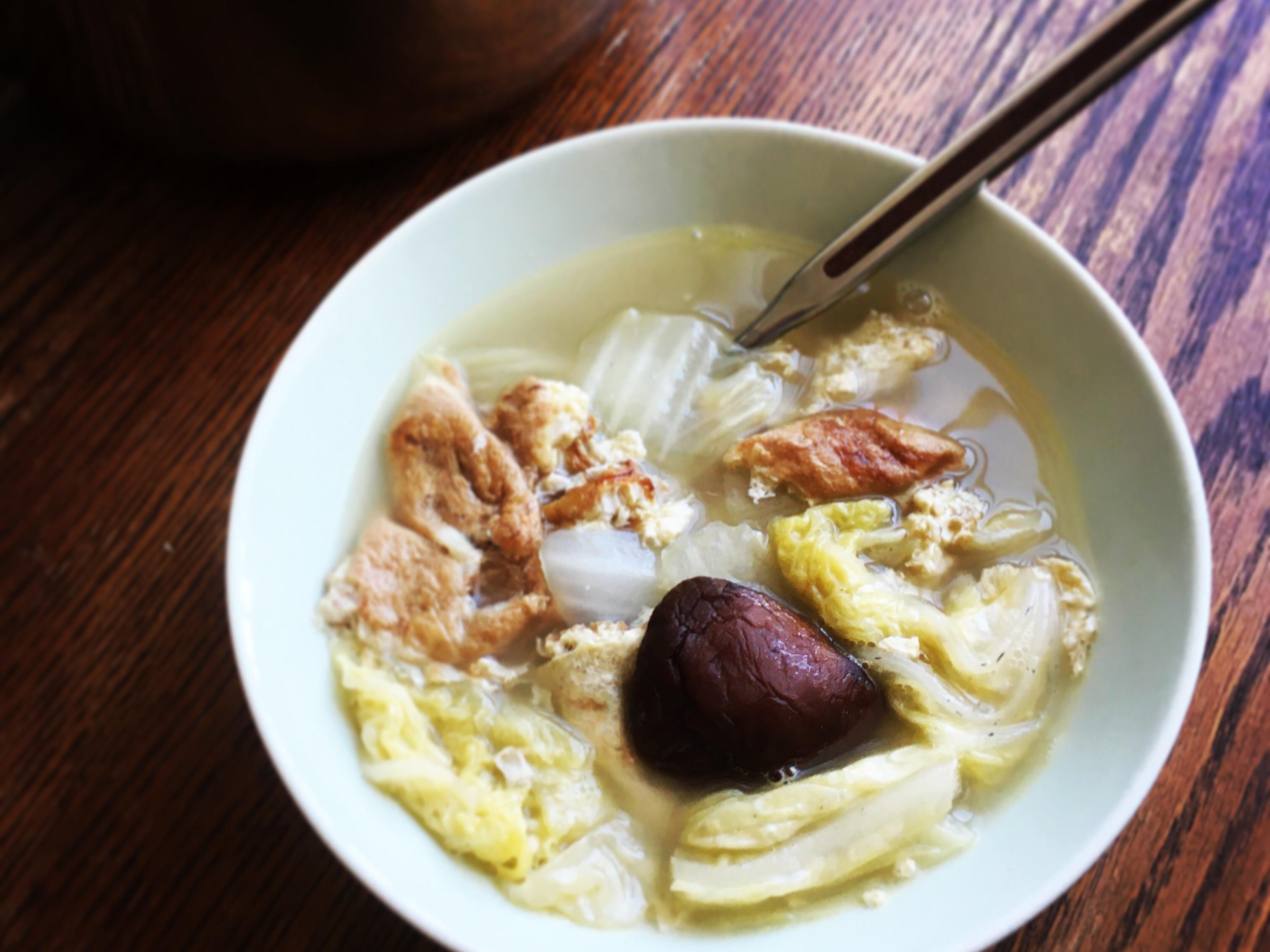 清爽香菇大白菜湯