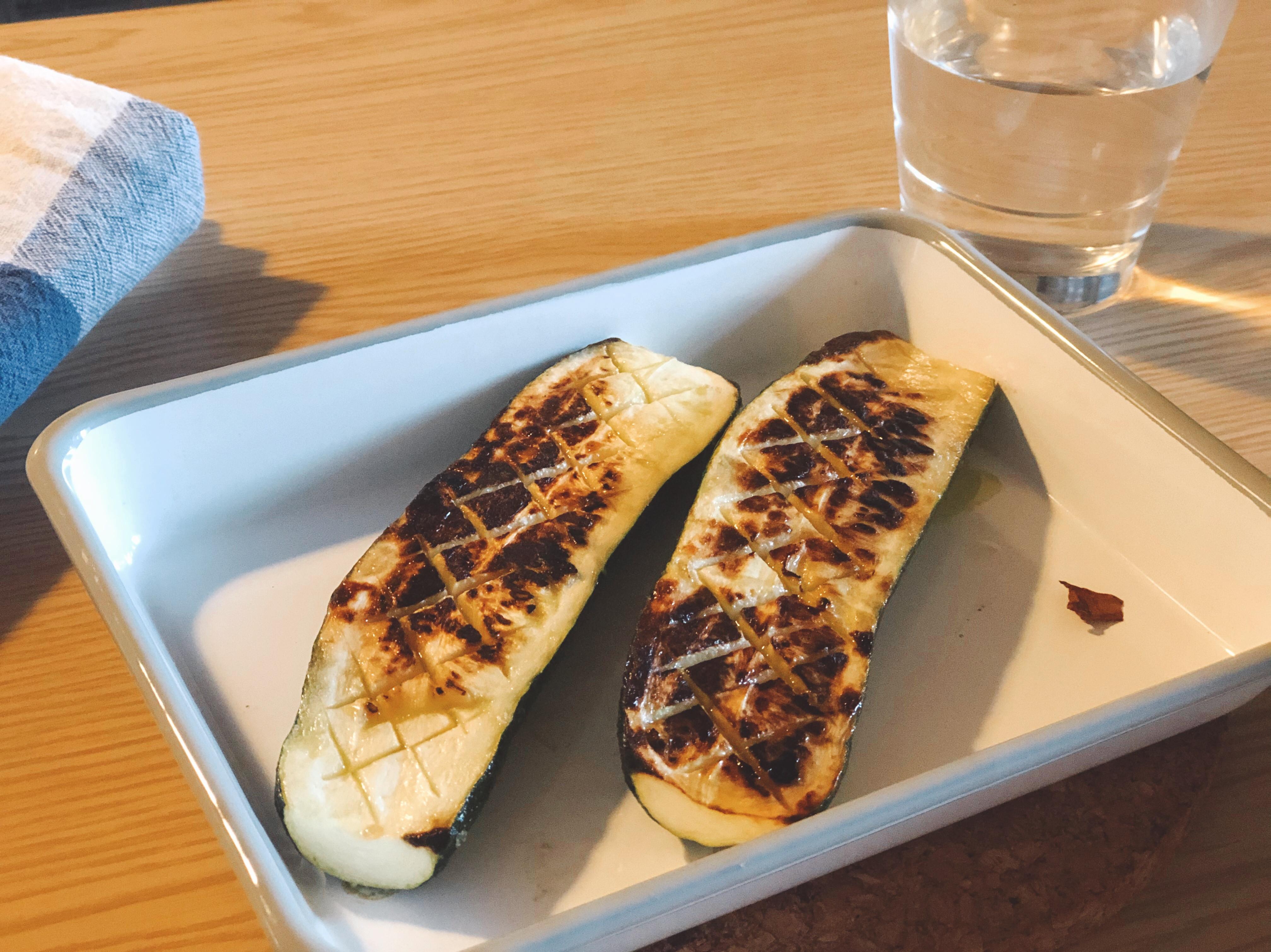 低卡料理🥒鹽烤櫛瓜