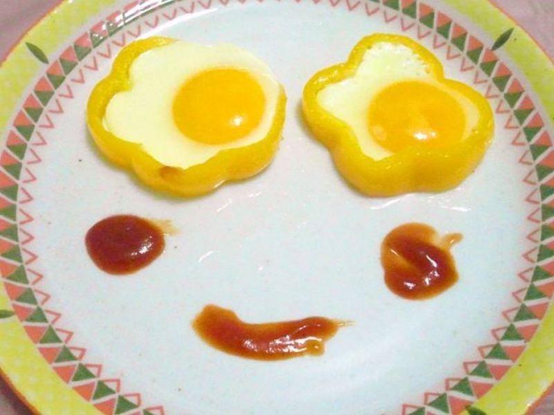 彩椒荷包蛋笑臉
