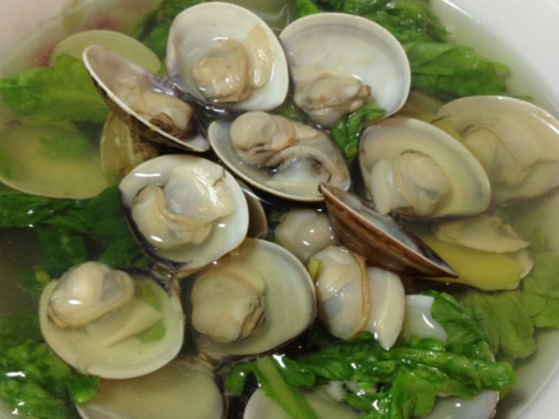 【湯品料理】蛤蜊薑絲茼萵湯