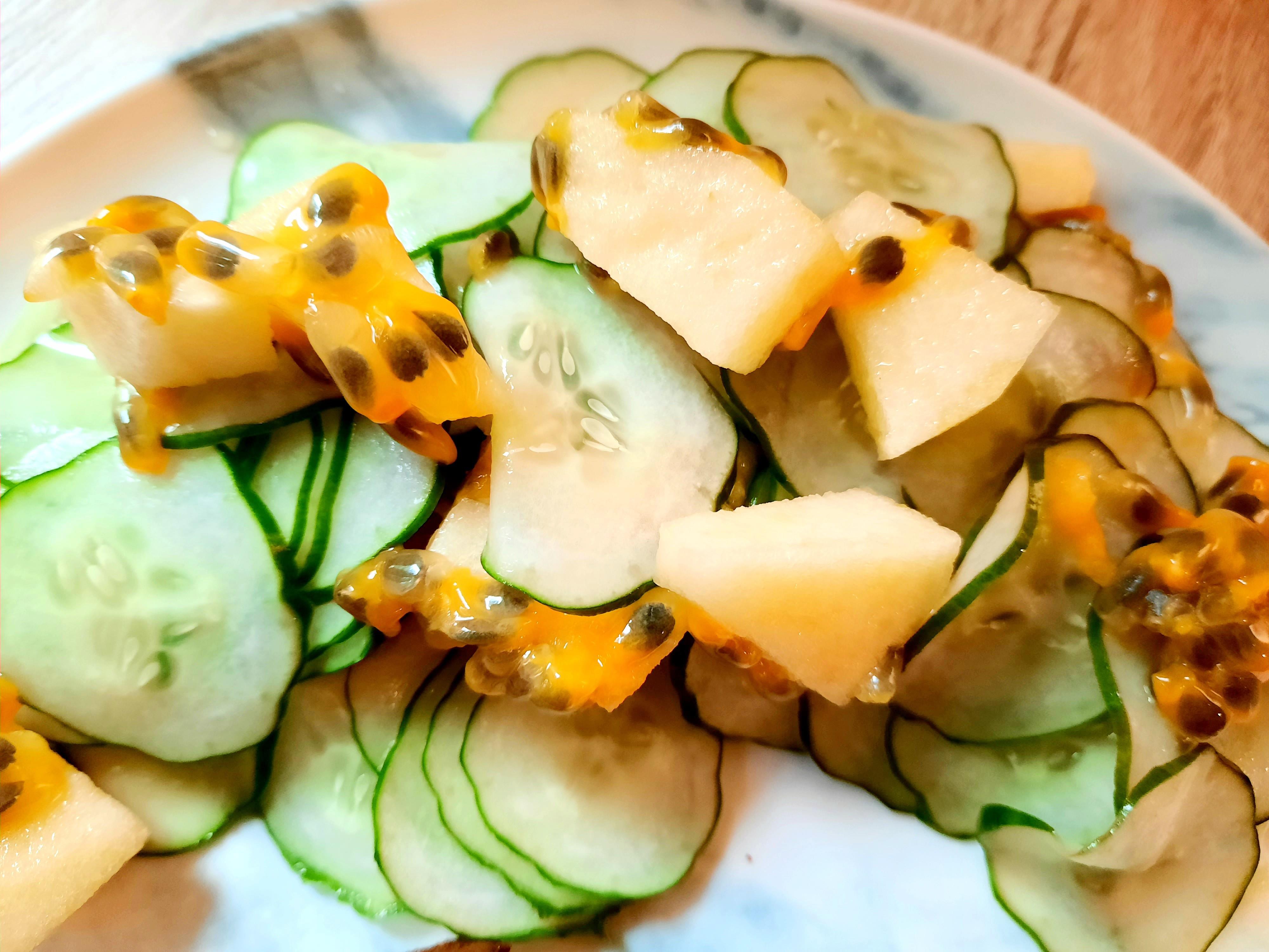 小黃瓜百香果沙拉
