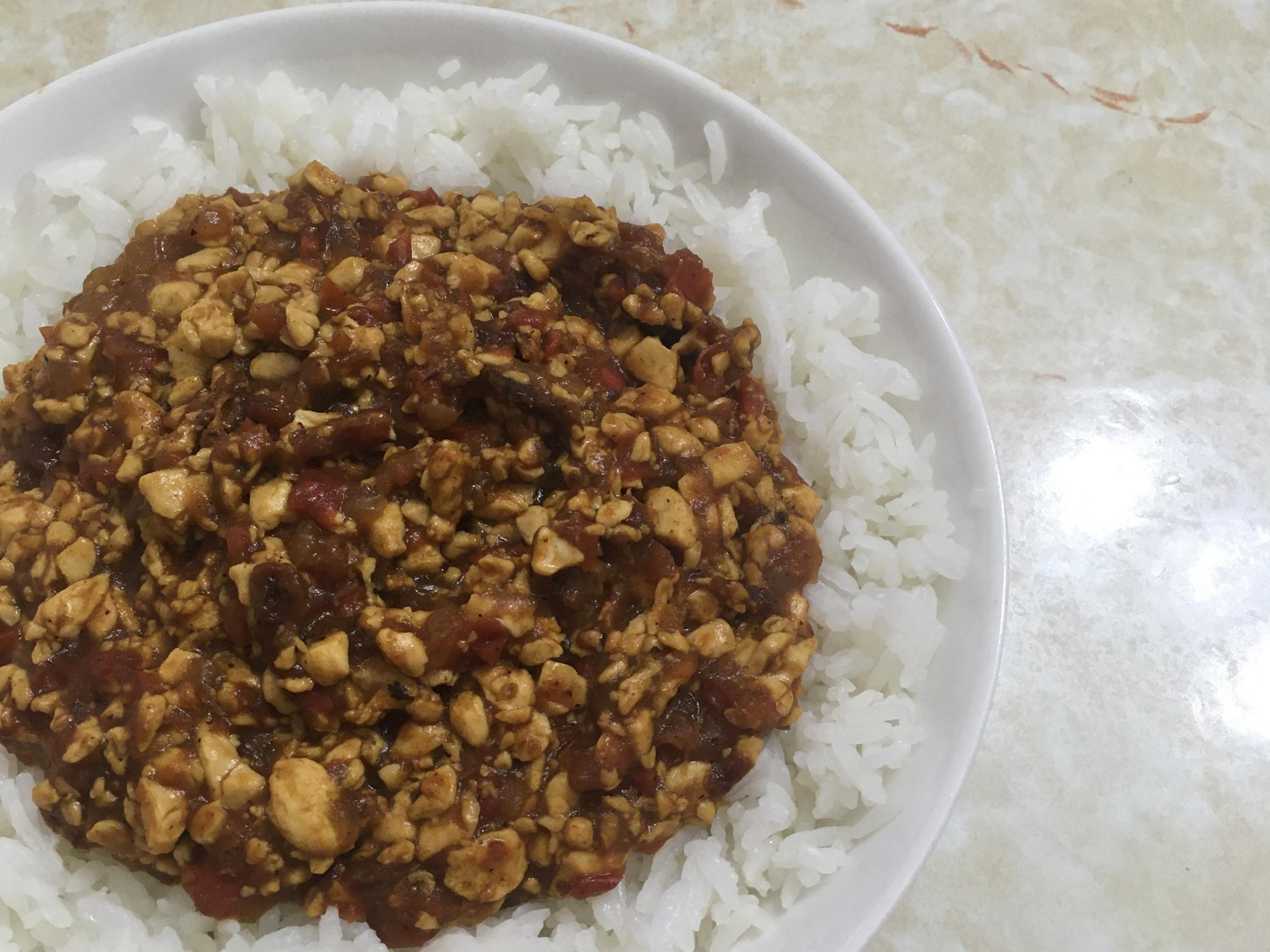 蕃茄豆腐乾咖喱飯