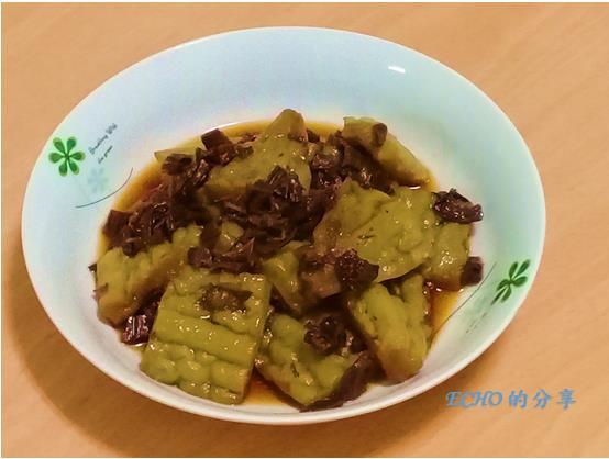 電鍋料理:梅干(梅乾)菜燜苦瓜~不敗料理
