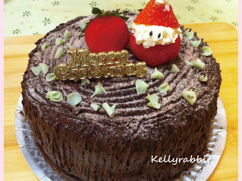 Merry X'mas草莓老公公蛋糕