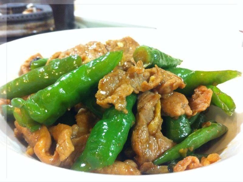 糯米椒炒肉片