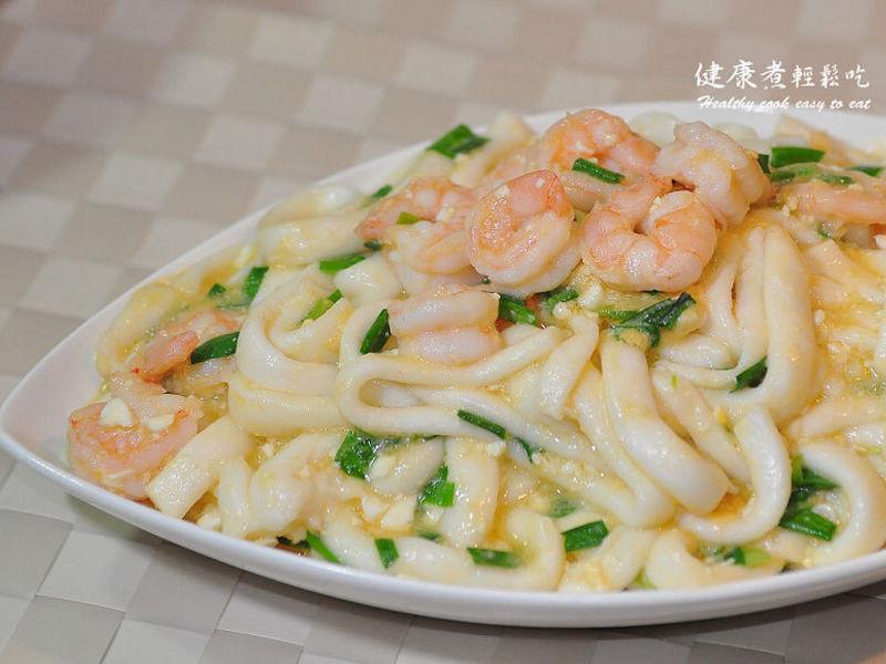 【輕鬆做年菜】 金沙韭香蝦粄條