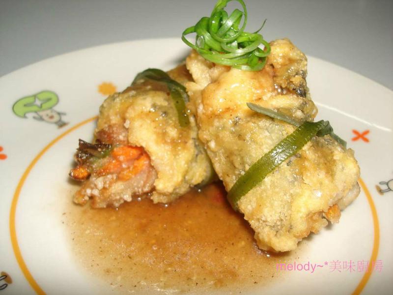 香酥鮮魚豚肉捲