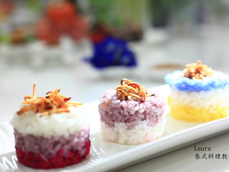 ♦泰泰風食尚廚房♦泰式甜品 植物色染椰香米糕