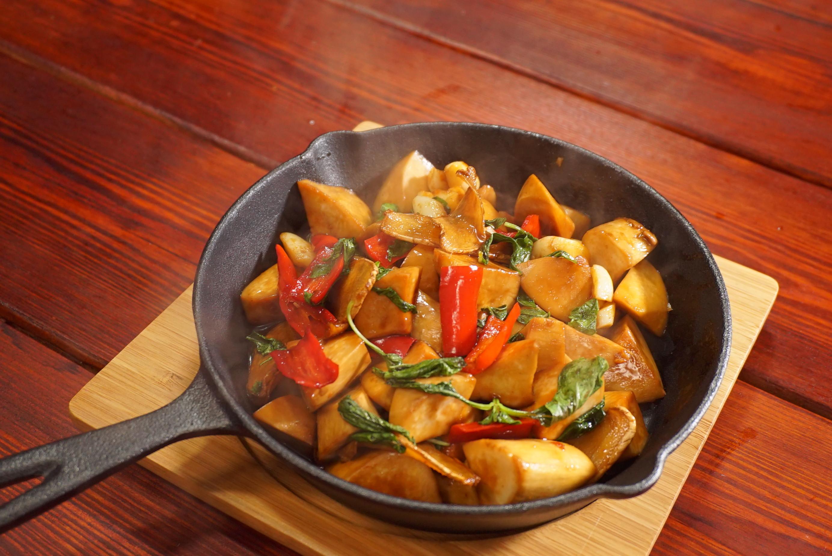 三杯杏鮑菇-豆油伯金桂醬油