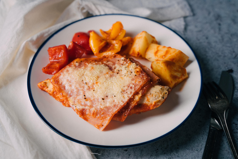 薩布雷薩索雞-茄汁火腿起士烤雞胸