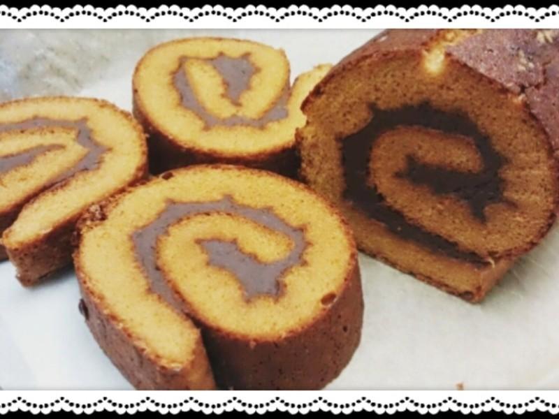 紅豆沙蜂蜜蛋糕捲