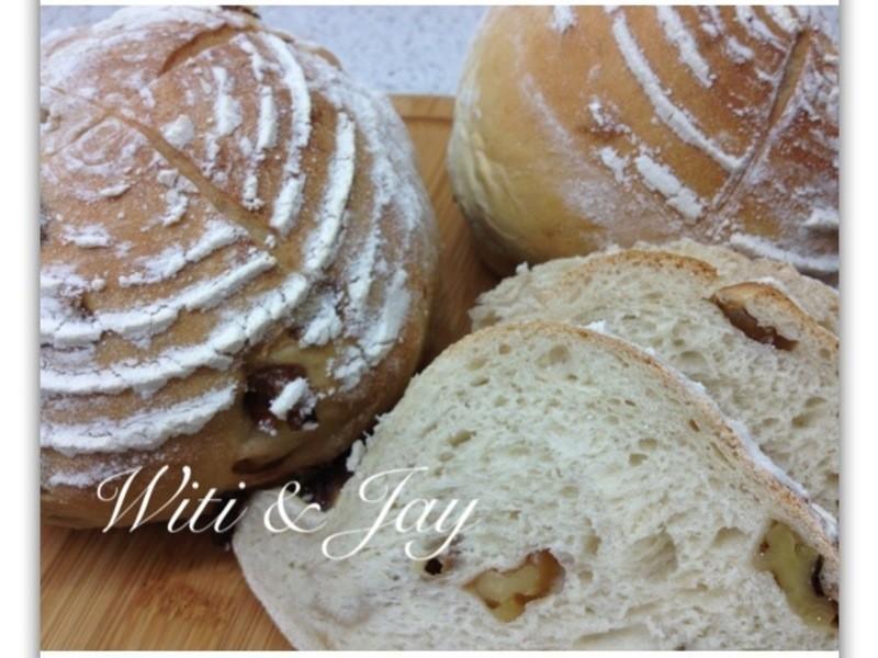 [Witi✿Kitchen](麵包機-麵包)酒釀桂圓核桃麵包