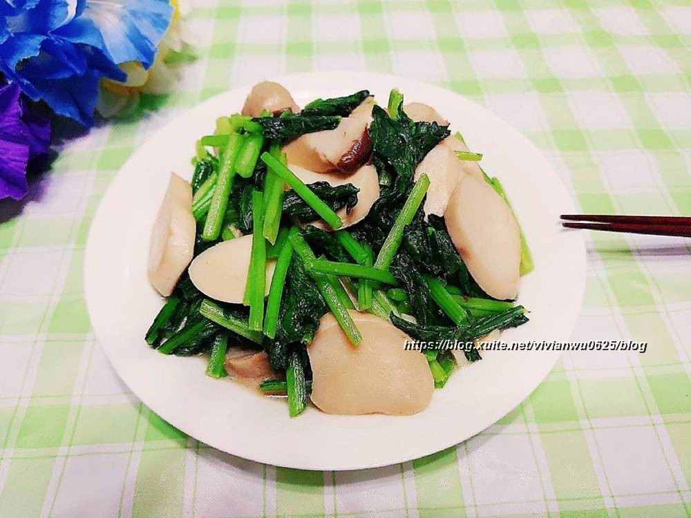 簡易家常菜~油菜炒杏鮑菇