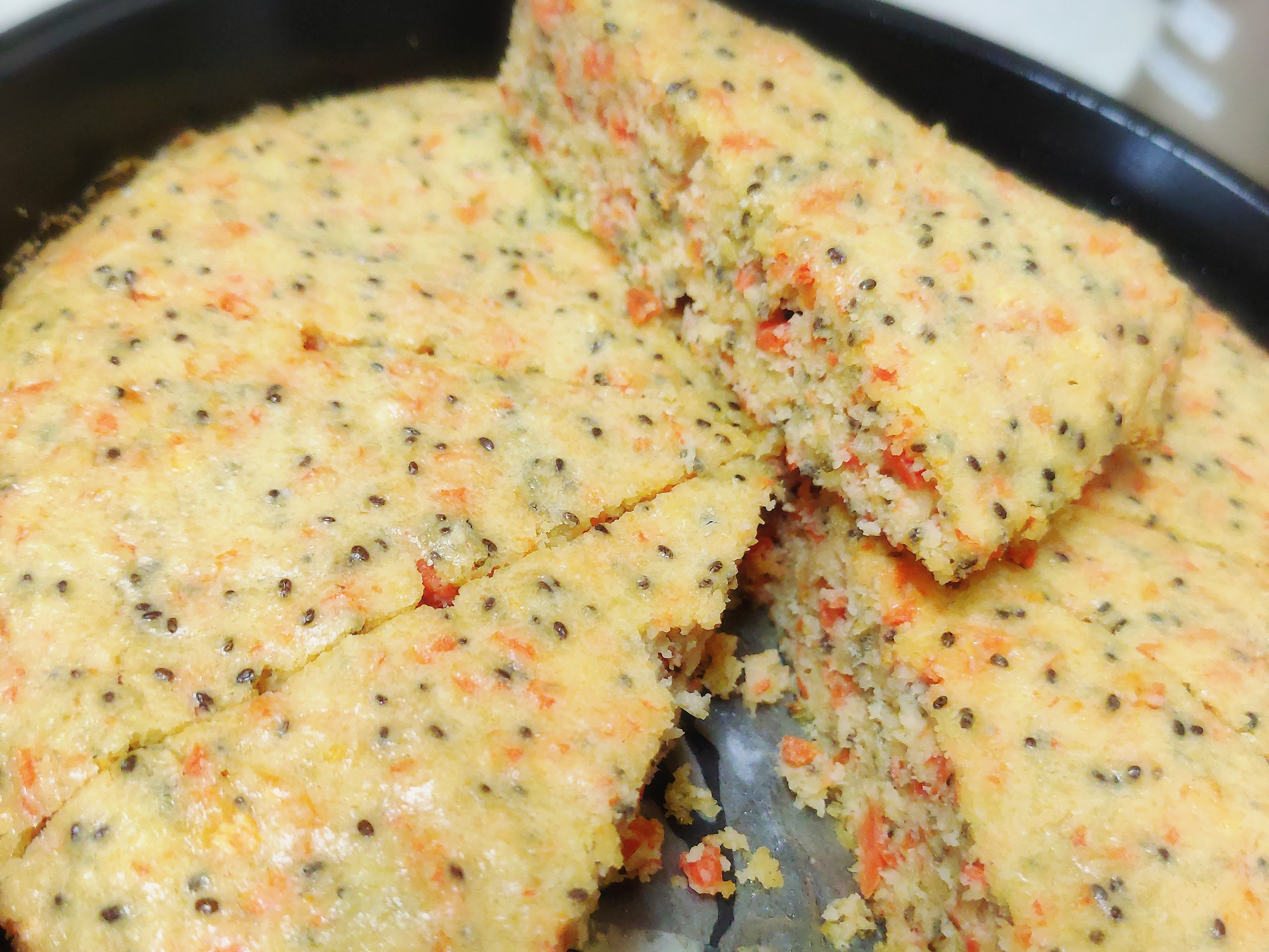紅蘿蔔蛋糕(無麵粉、無糖)