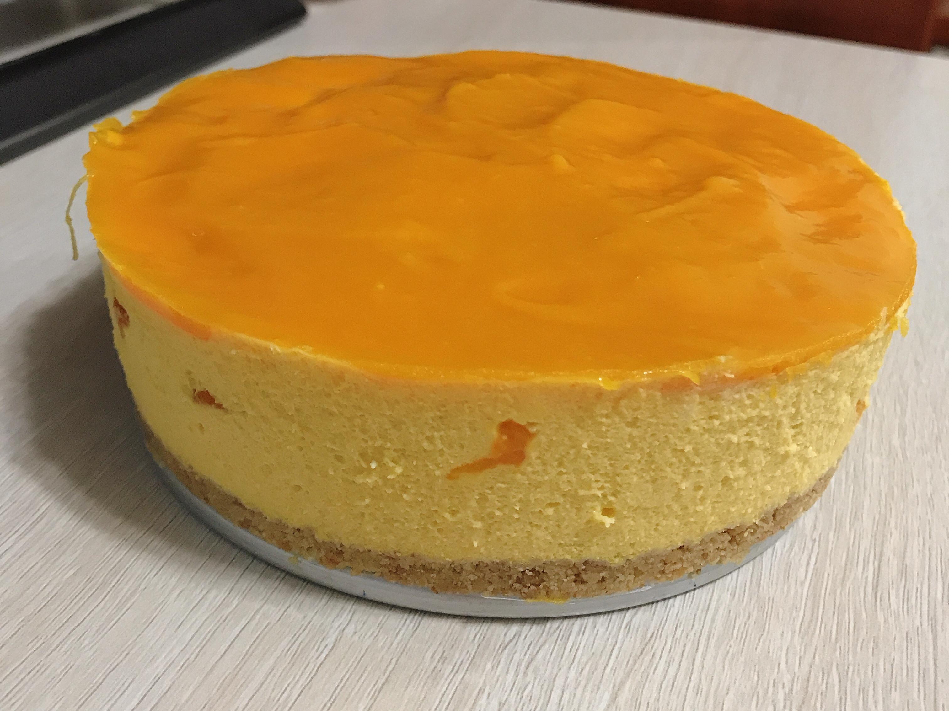 <免烤箱> 芒果慕絲蛋糕