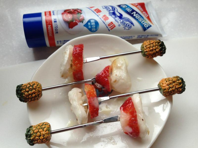 【草莓就愛鷹牌煉奶】年糕草莓串