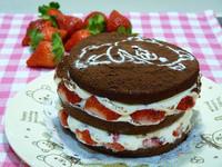 懶懶熊草莓巧克力蛋糕