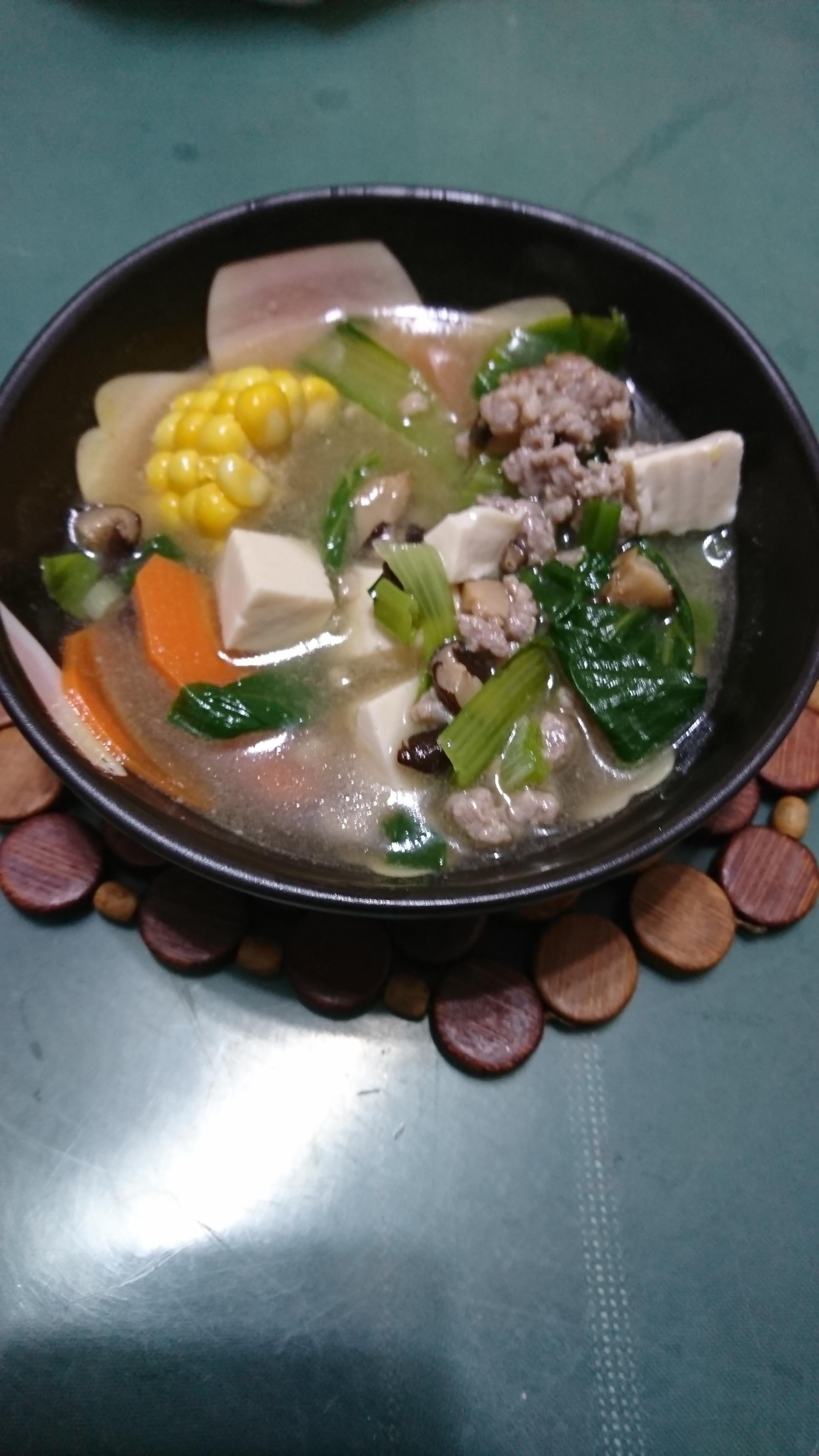 青蔬豆腐湯