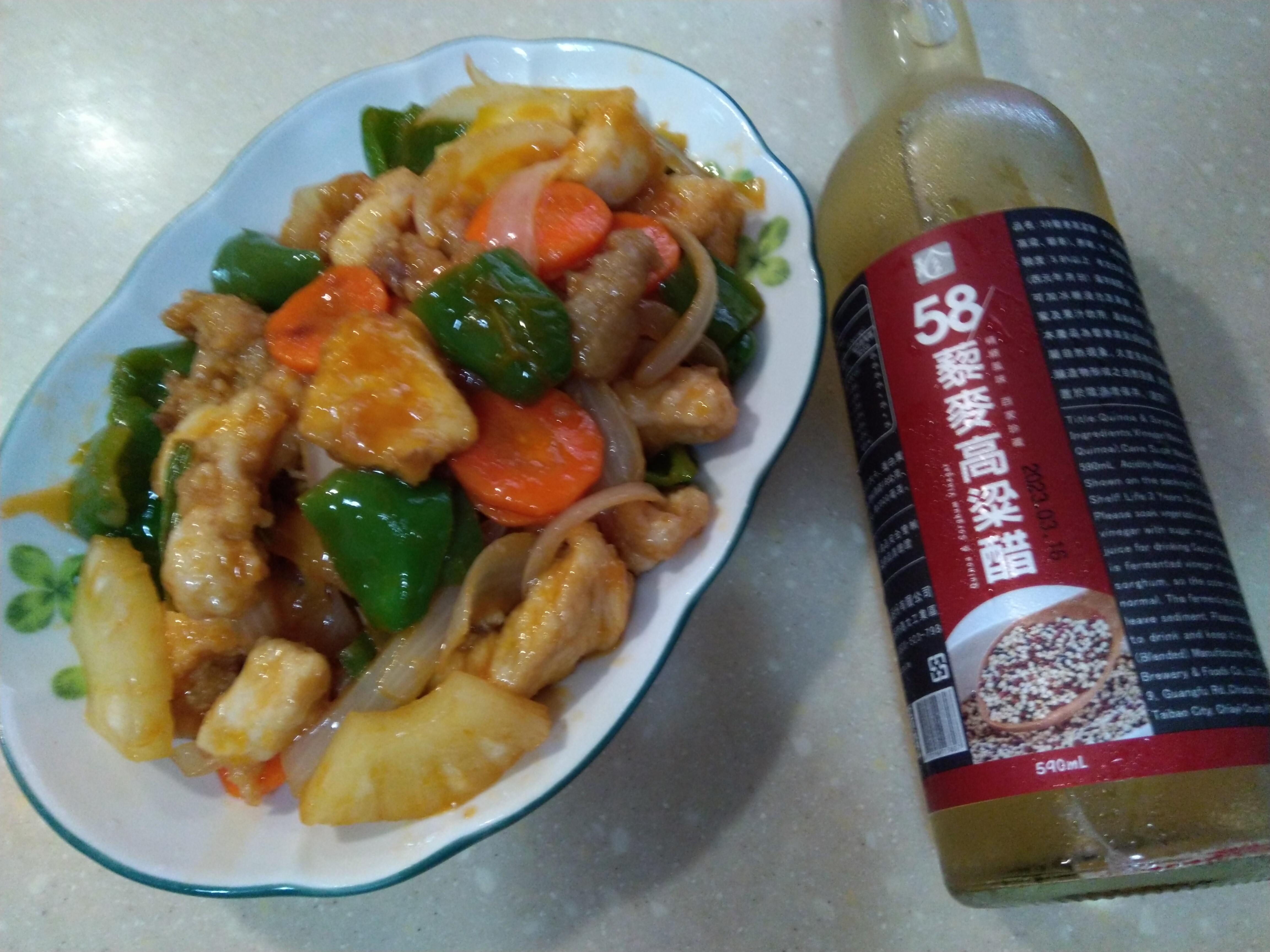 鳳梨糖醋雞【58藜麥高粱醋】