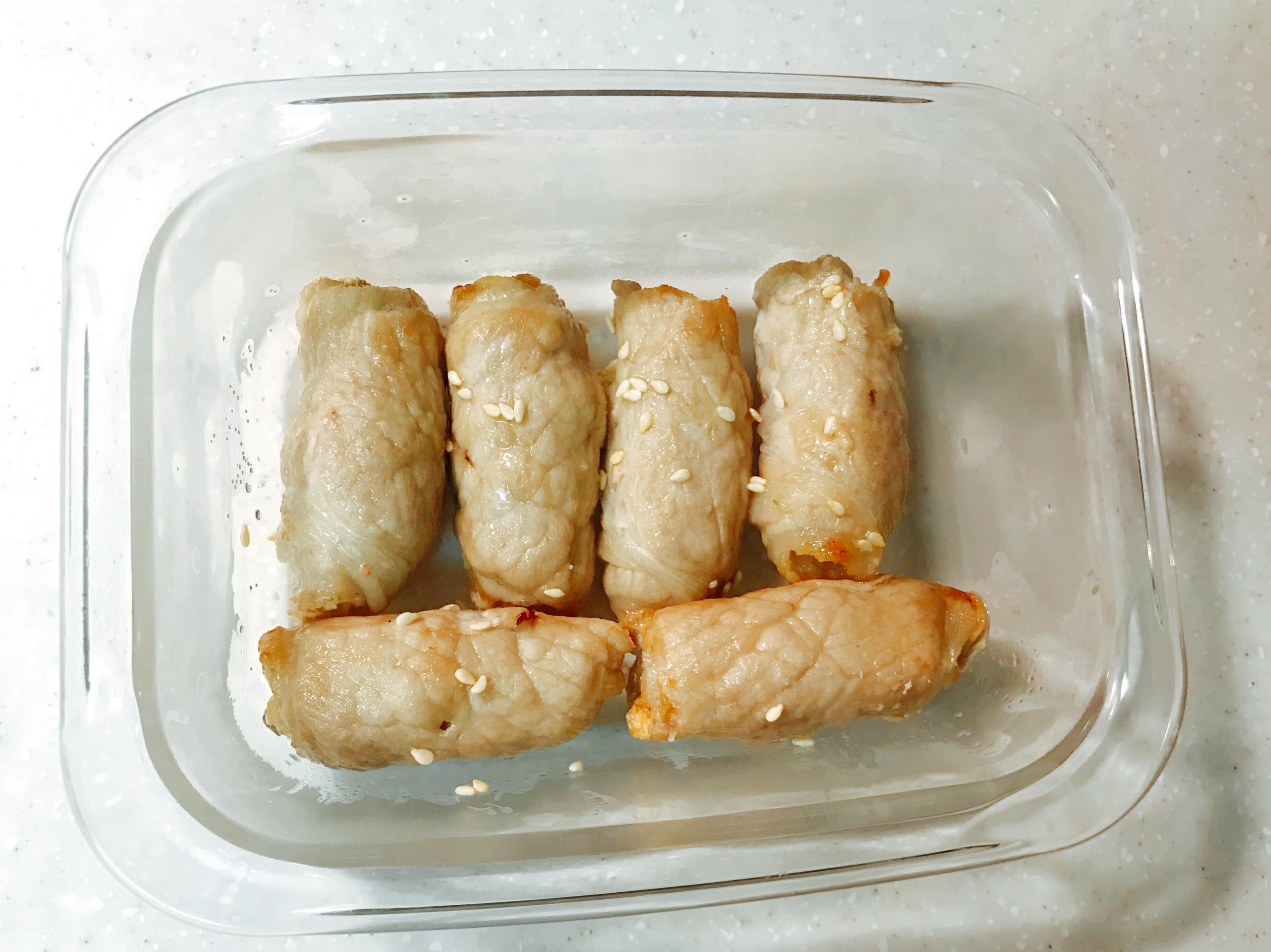 氣炸金針菇肉捲(低醣)