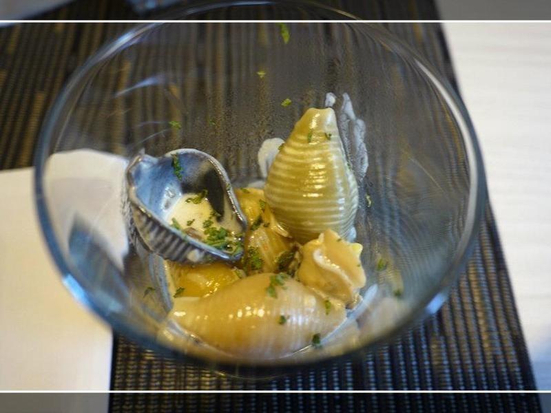 香草奶醬蛤蠣貝殼麵