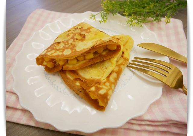 台式脆皮「玉米起士可麗餅」鹹鹹甜甜很美味