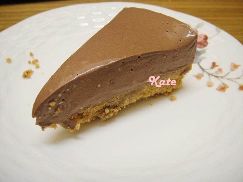 【Kate午後烘焙】免烤!簡單巧克力起士蛋糕