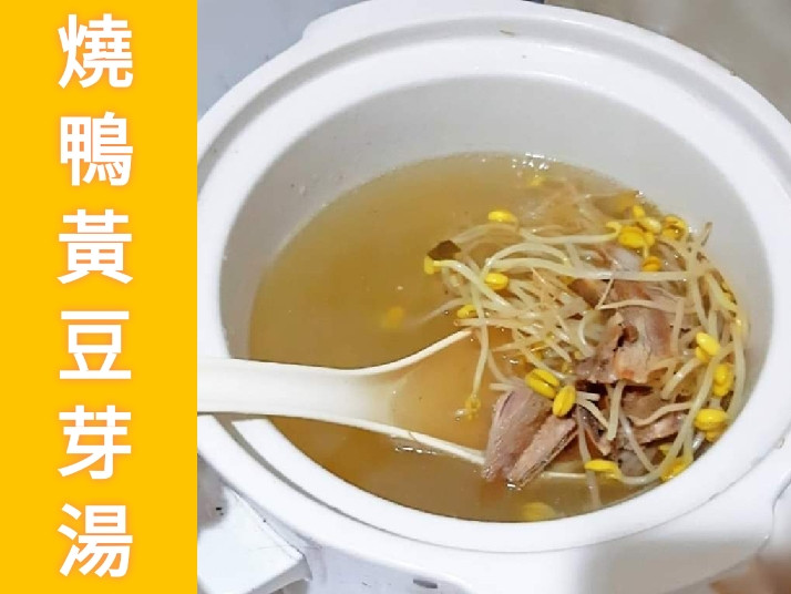 一個人的餐桌 之 燒鴨黃豆芽湯