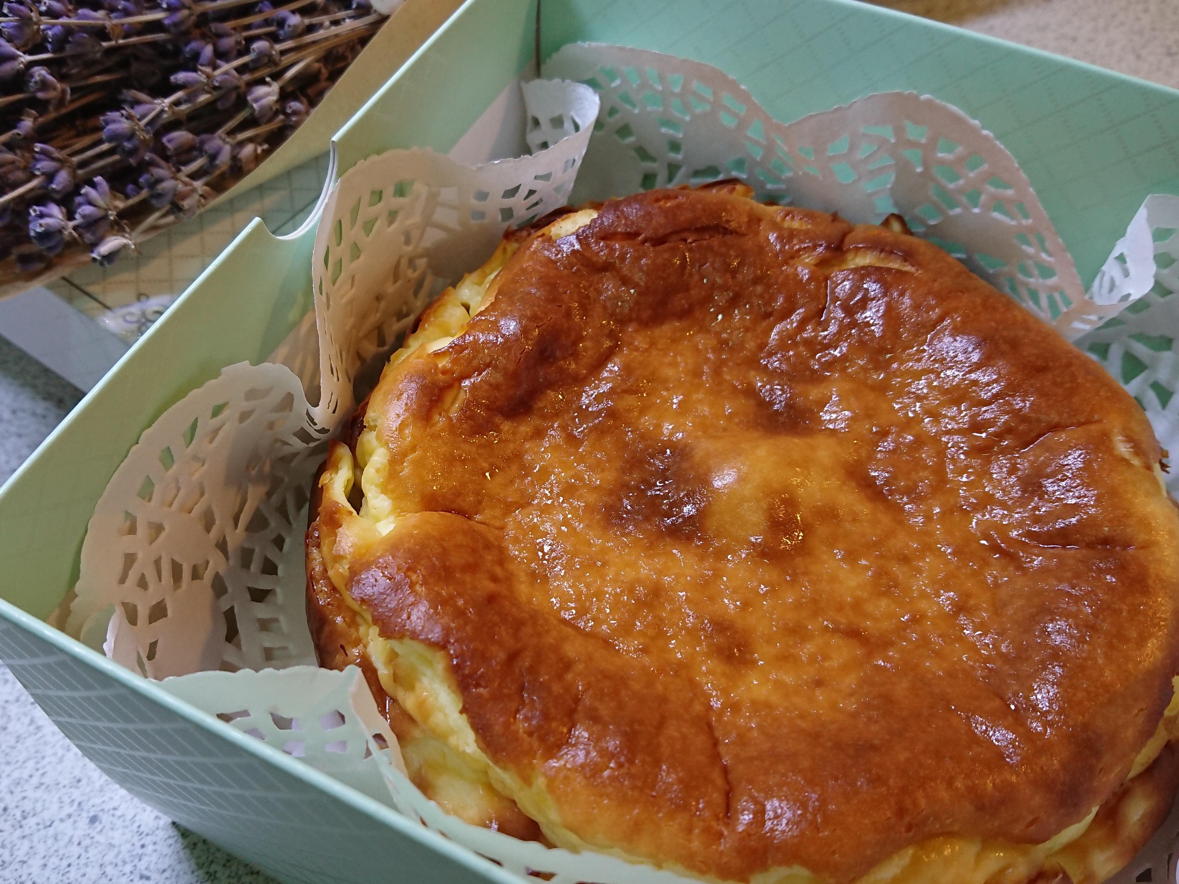 巴斯克焦香乳酪蛋糕。減糖不甜版