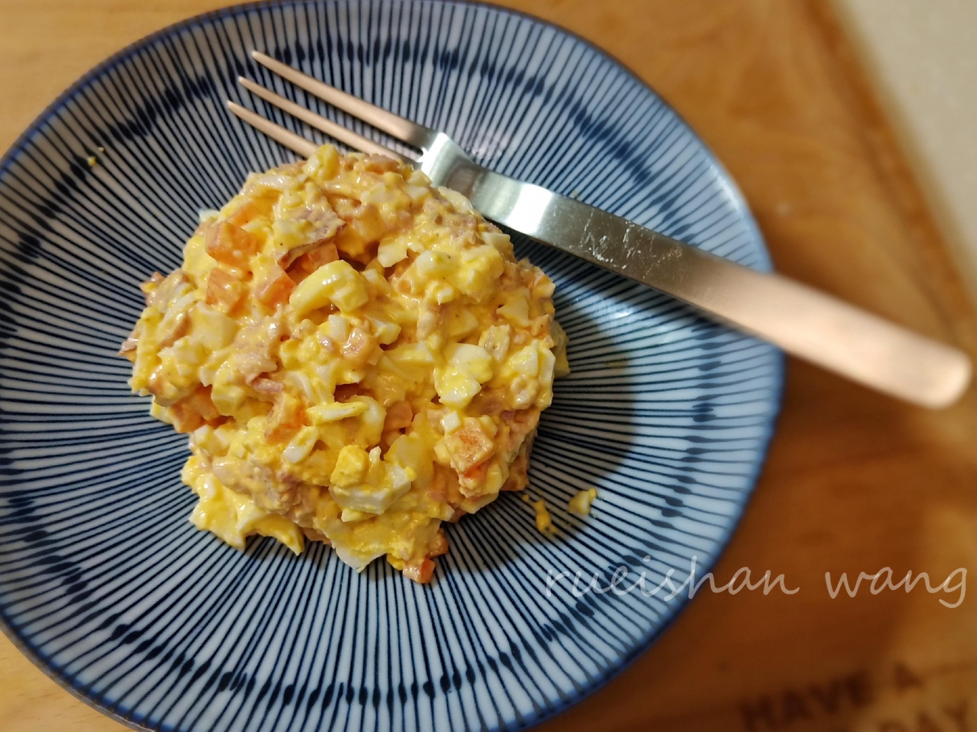培根蔬食蛋沙拉