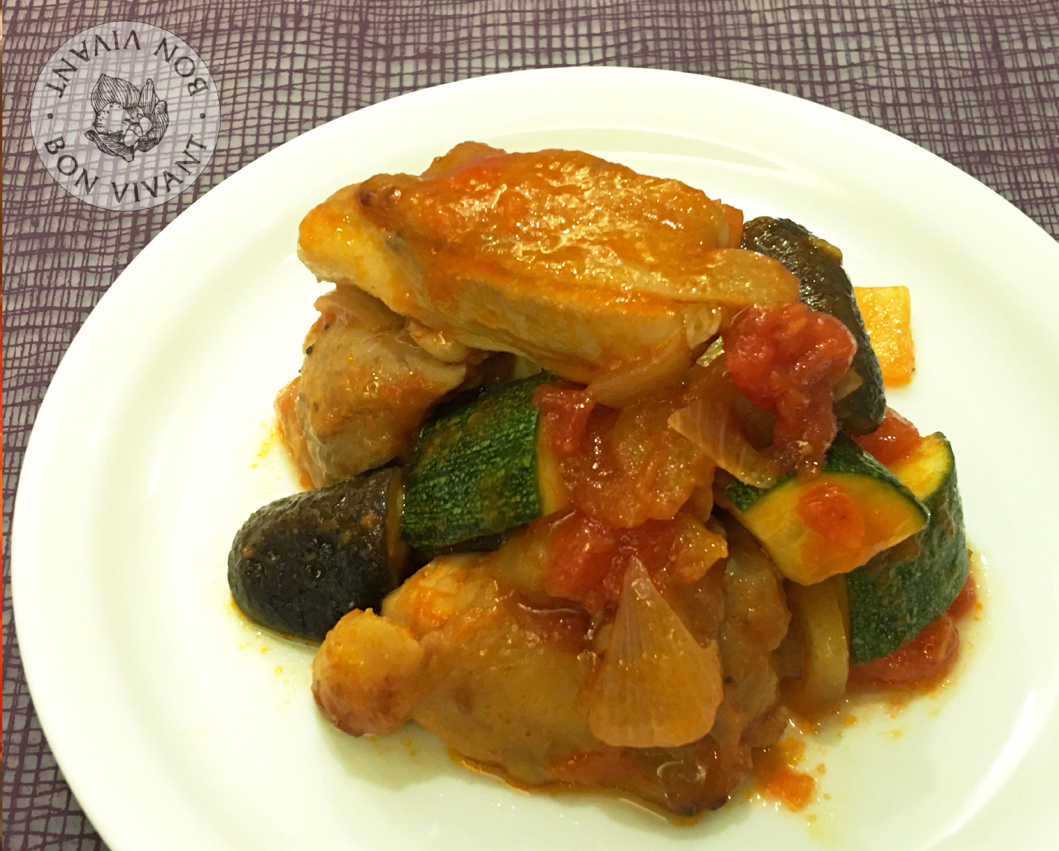蔬菜香蒜燴雞肉