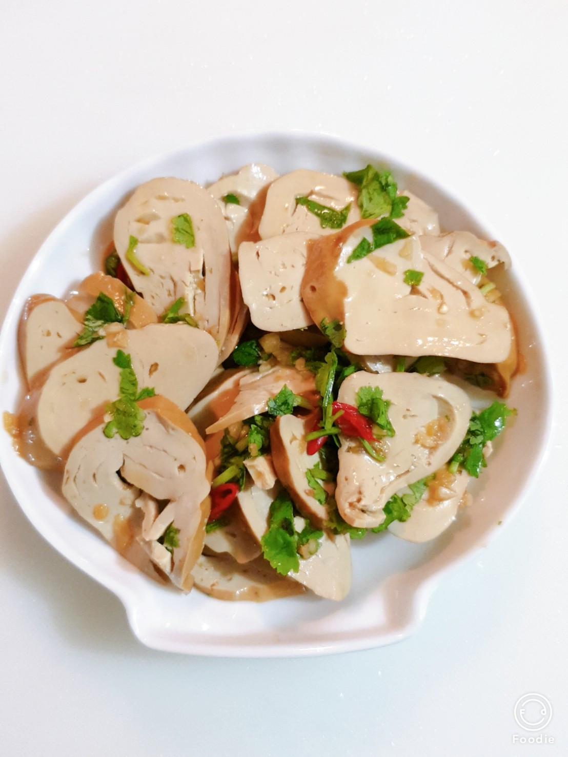 涼拌素雞(五辛素)