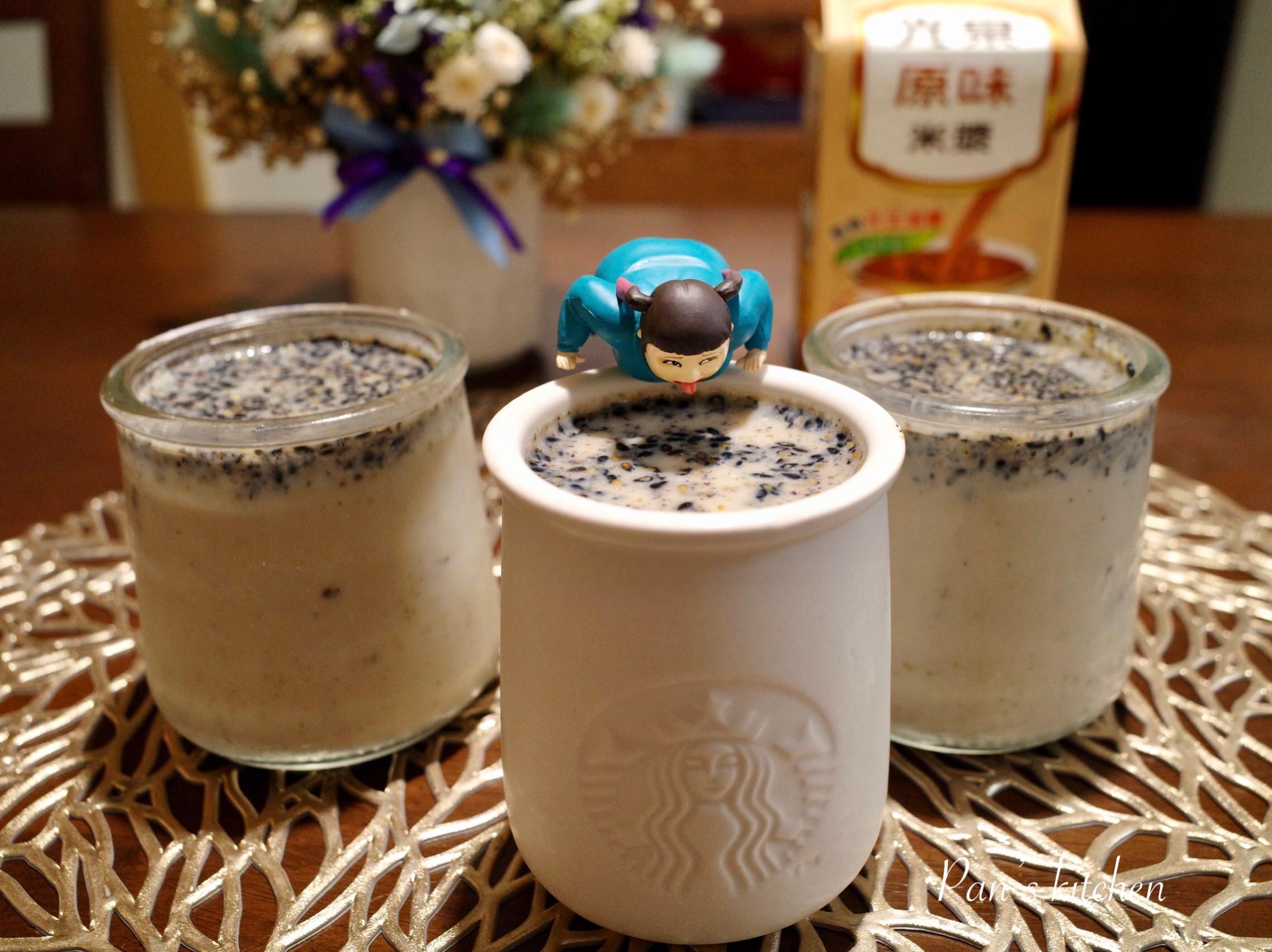 芝蔴糙米漿布丁~無鮮奶油版(光泉米漿食譜
