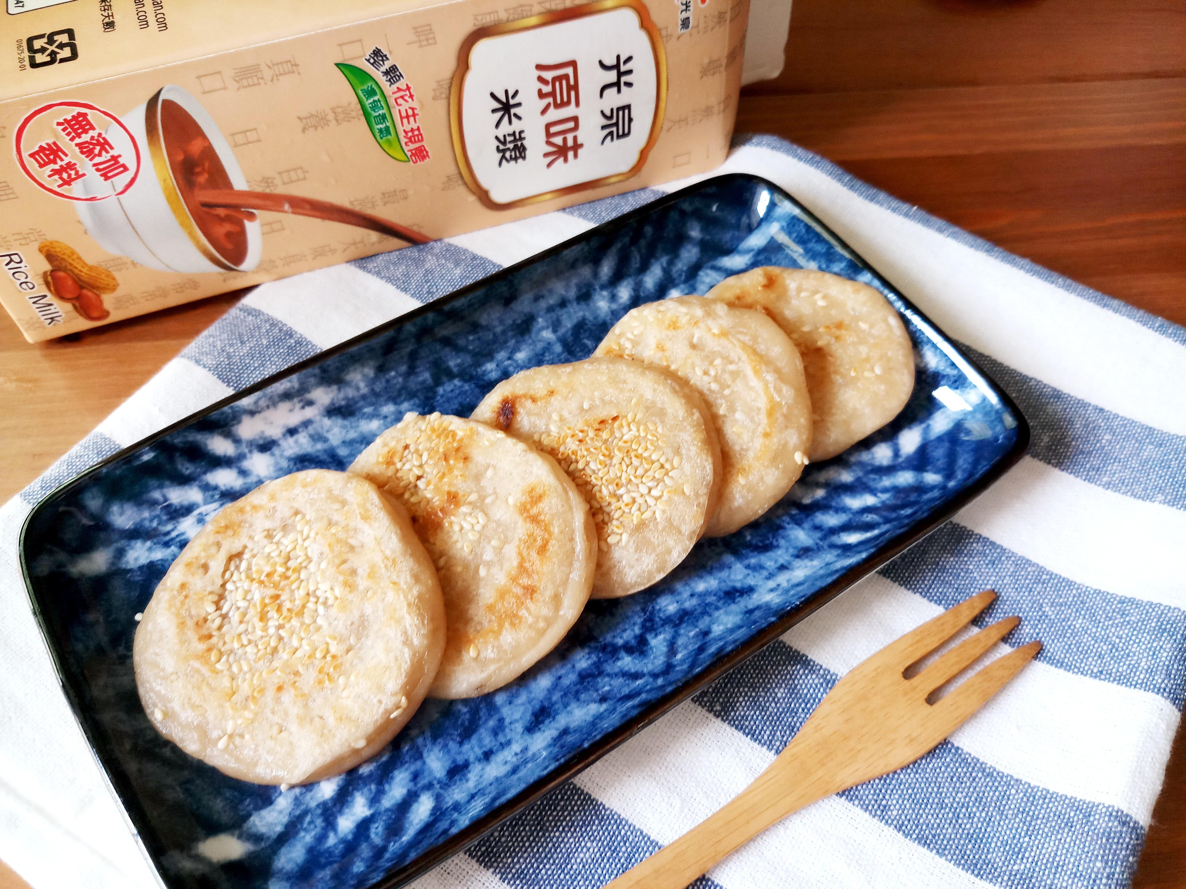 芝麻軟Q糯米煎餅-超簡單